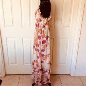 Ladies Prairie Dress Floral with Ruffle Sleeves